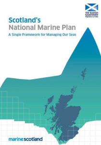 The front cover of the Marine Scotland National Marine Plan