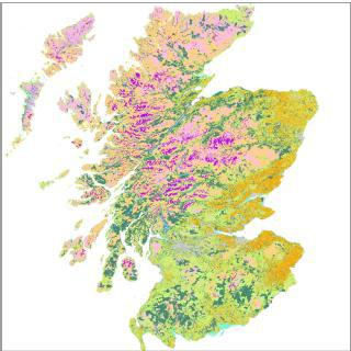 Habitat map of Scotland (EUNIS base map)