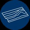 3D bathymetric data icon