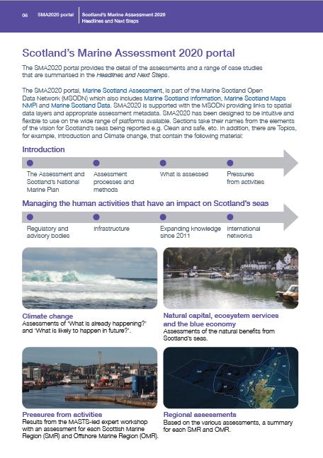 SMA2020 portal and Scotland's Marine Regions