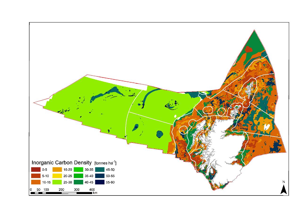 Spatial distribution of Inorganic Carbon (IC) across Scotland's continental shelf sediments (Smeaton et al., 2020)