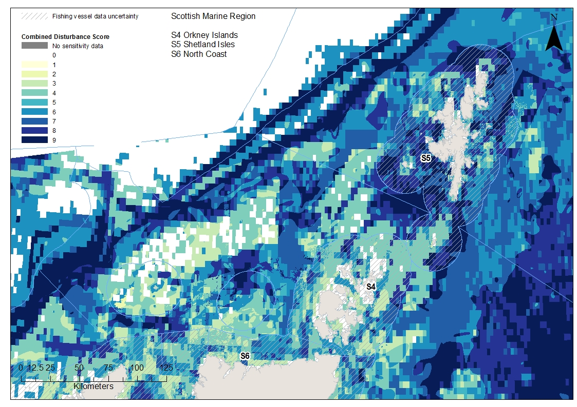Orkney North Coast and Shetland combined disturbance from both surface and subsurface abrasion