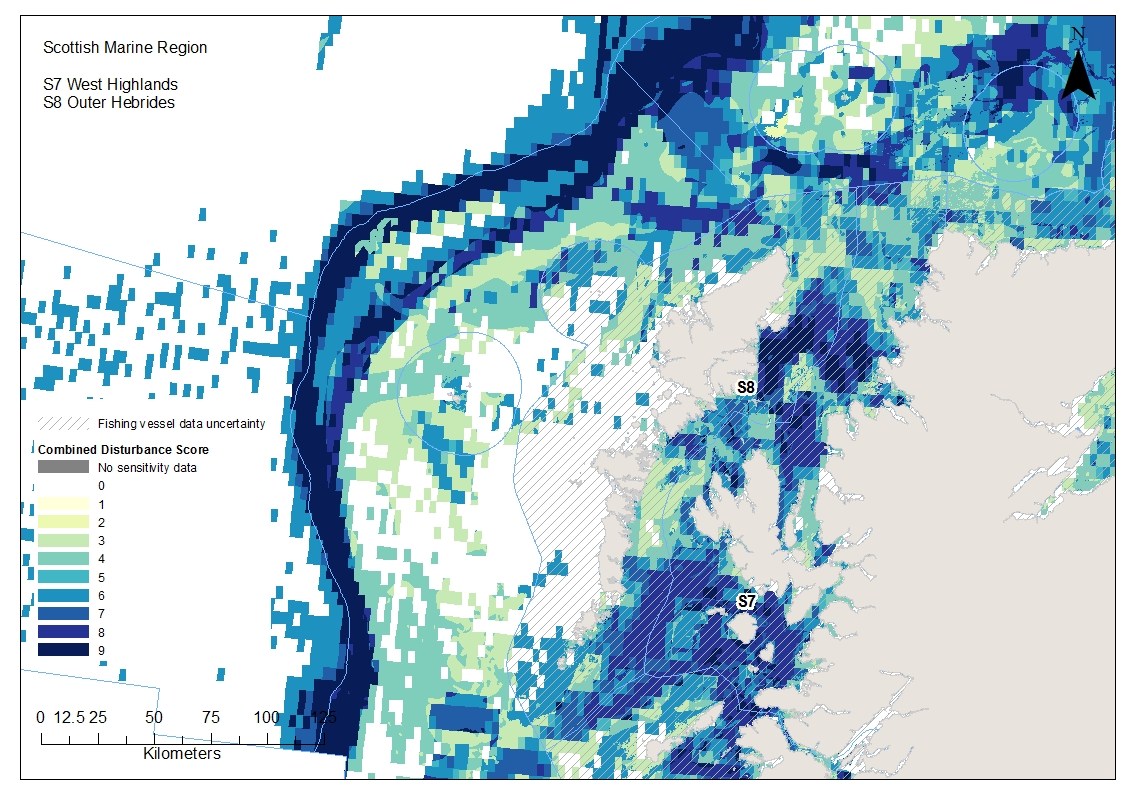 Outer and West Hebrides combined disturbance from both surface and subsurface abrasion