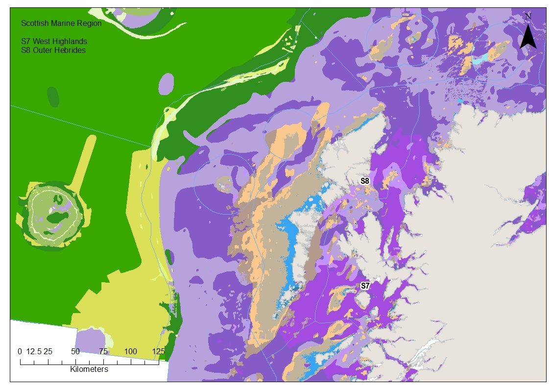Outer and West Hebrides EUNIS level 3 benthic habitat map