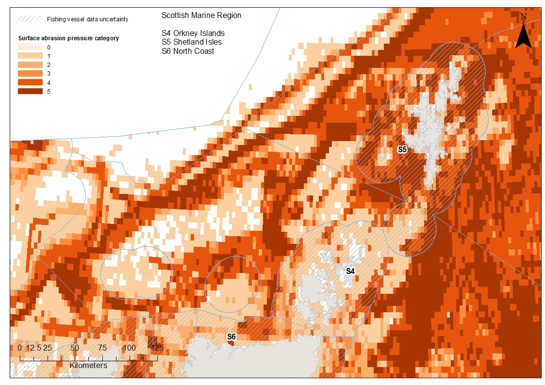 Orkney North Coast and Shetland Aggregated surface abrasion pressure
