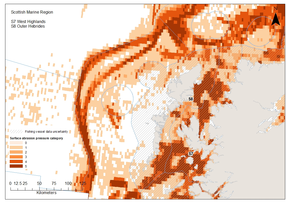 Outer and West Hebrides Aggregated surface abrasion pressure