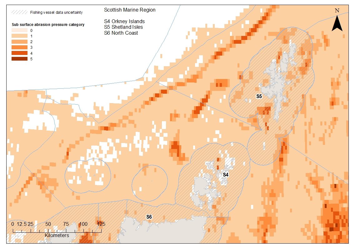 Orkney North Coast and Shetland Aggregated sub-surface abrasion pressure