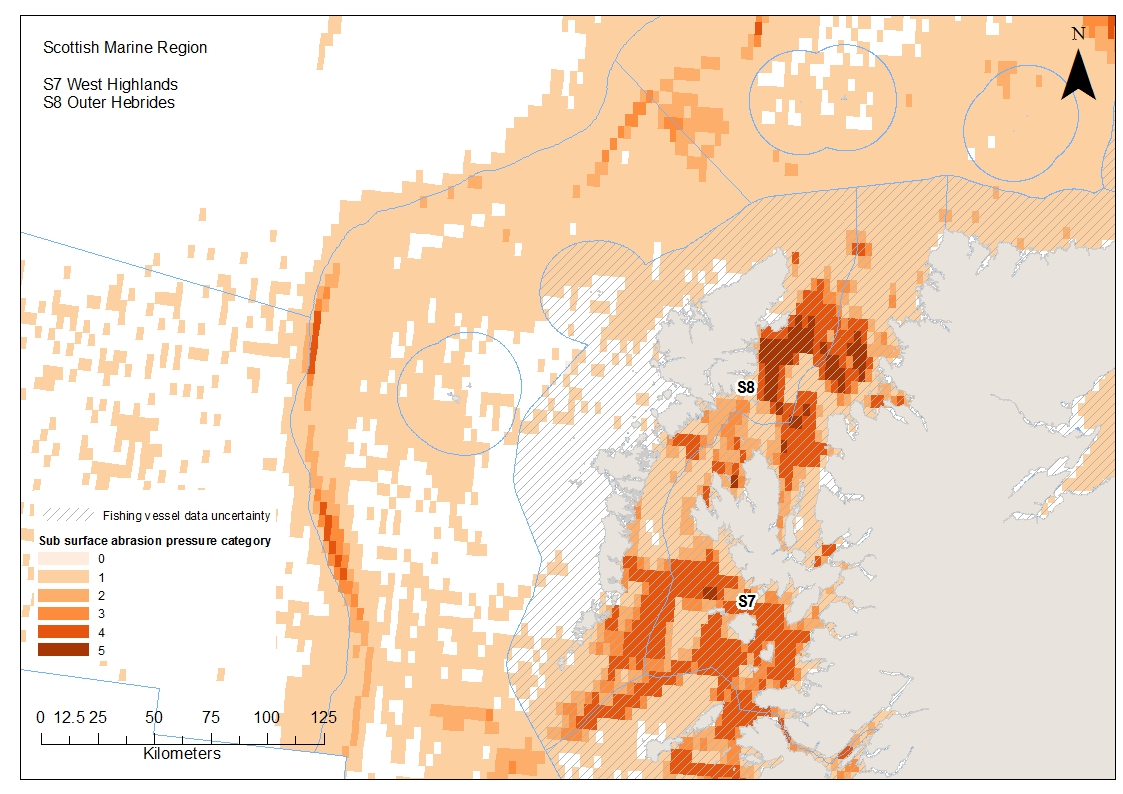 Outer and West Hebrides Aggregated sub-surface abrasion pressure