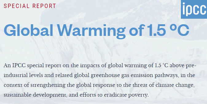 The IPCC Special Report on Global Warming of 1.5°C (SR1.5)