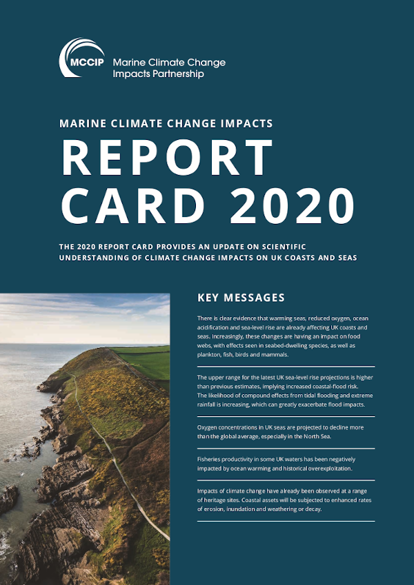 The Marine Climate Change Impacts Report Card 2020 and backing papers produced by the UK Marine Climate Change Impacts Partnership (MCCIP)