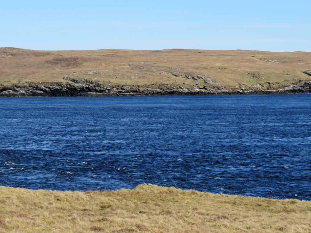 Figure 4: Overlooking area of development, Bluemull Sound, Shetland © Nova Innovation.