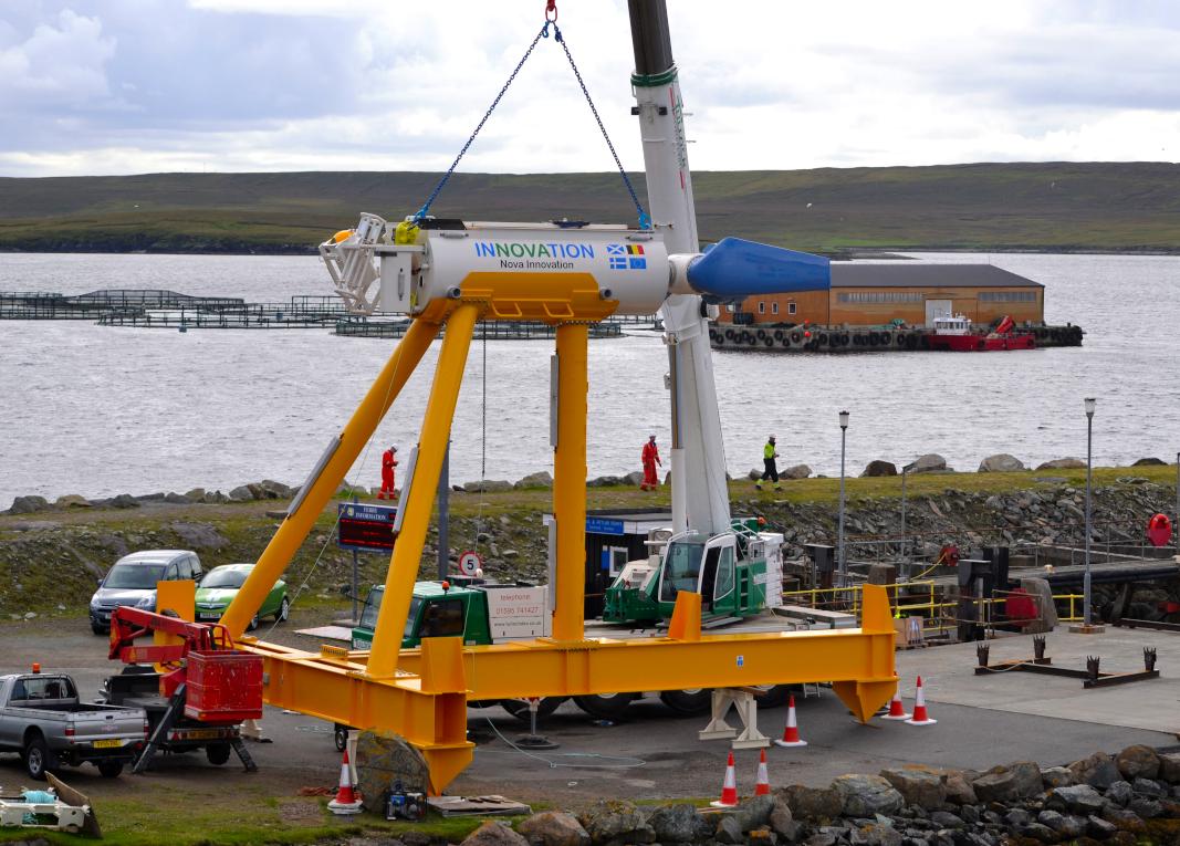 Figure 2: Nova M100 Tidal Turbine awaiting installation © Nova Innovation.