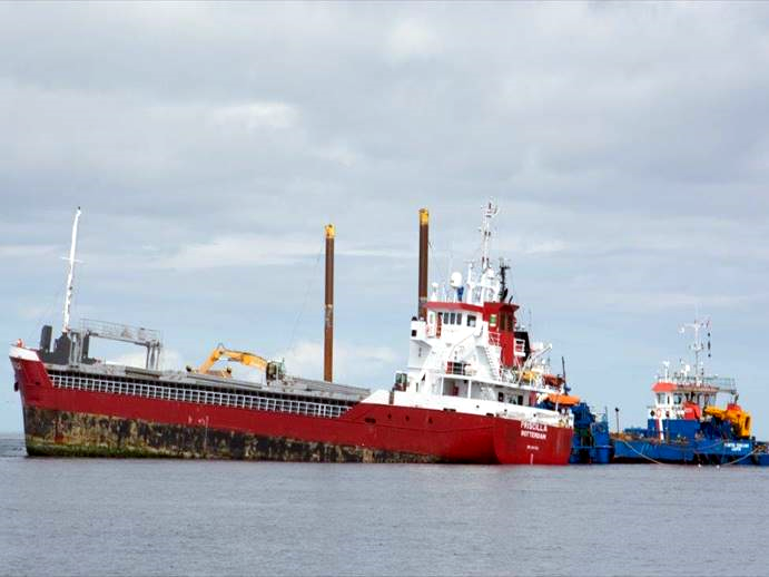 The MV Priscilla ran aground in the Pentland Firth in 2018. © Maritime and Coastguard Agency