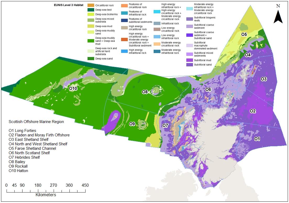 All Scotland EUNIS level 3 benthic habitat map