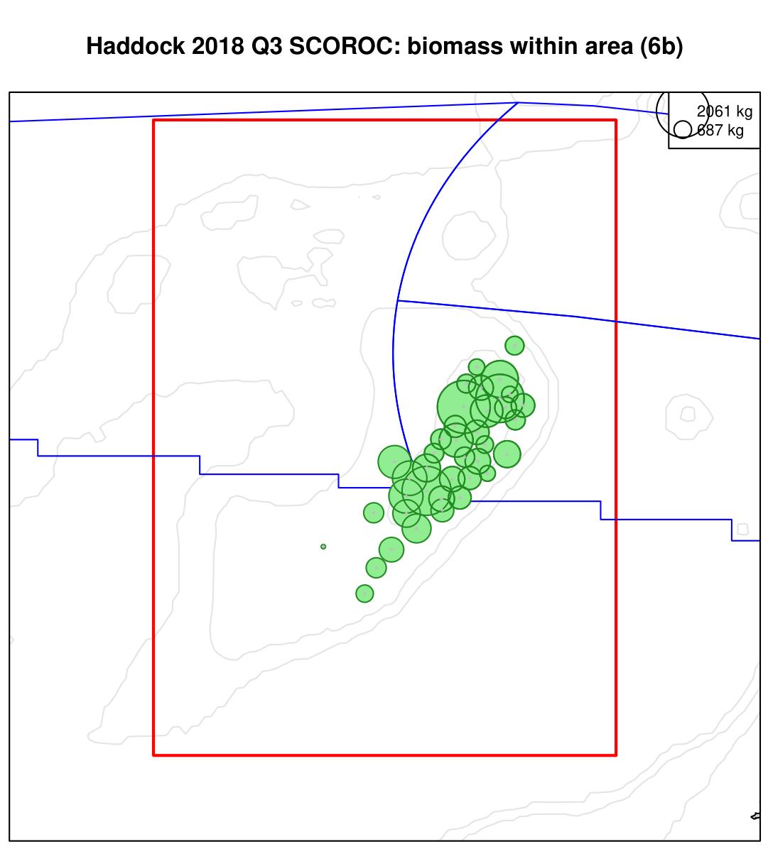 Haddock 2018 Q3 SCOROC: biomass within area (6b)