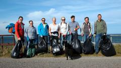 Figure 5:  Litter picking of the coastal zone is undertaken by many people. © Colin Moffat.