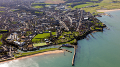 Figure 2: Aerial view of St Andrews, an historic university town. Copyright University of St Andrews