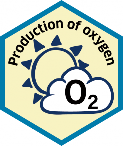 Blue economy sector hexagon production of oxygen