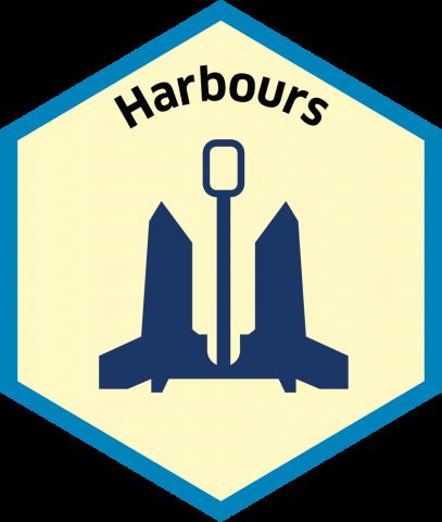 Blue economy sector hexagon harbours