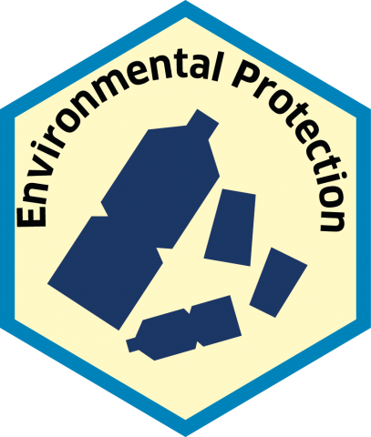 Blue economy sector hexagon environmental protection