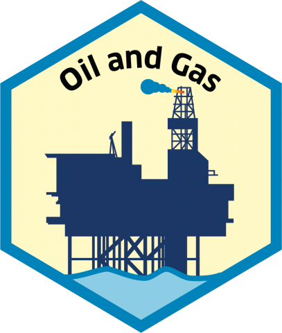 Blue economy sector hexagon oil and gas