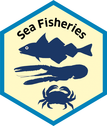 Blue economy sector hexagon sea fisheries