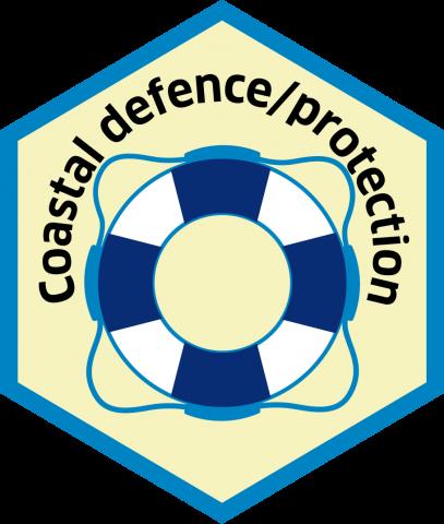 Blue economy sector hexagon coastal protection