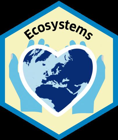 Blue economy sector hexagon ecossystems