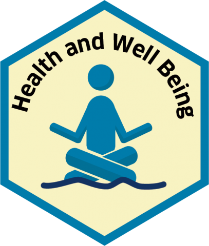 Blue economy sector hexagon health and wellbeing
