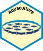 Blue economy sector hexagon aquaculture